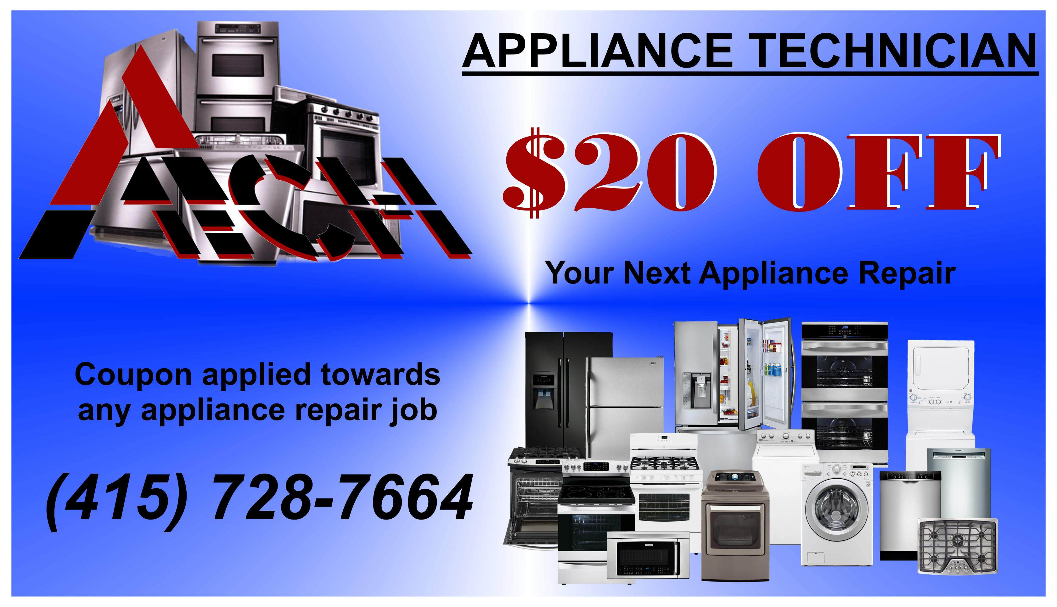 Get $20 OFF on any appliance repair service